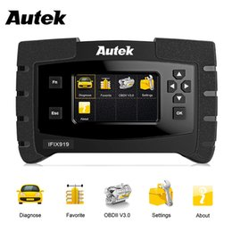 Wholesale Abs Airbag Scanner Tools - Autek IFIX-919 OBD2 Automotive Scanner Full System OBDII Diagnosic Tool with ABS Airbag SRS Engine Transmission Crash Data Reset