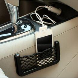 juguetes de tela coche Rebajas Coche bolsa de malla neto de coches Organizador universal de almacenamiento bolsillo titular neto para BMW E46 creativa diversa bolsa de malla de coche que labra los accesorios