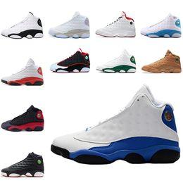 Wholesale kids basketball shoes sale - 2018 Hot sale Hyper Roya basketball shoes 13s Sneaker Wolf Grey GS Bordeaux Ray Allen Kids Men Sports shoe 13s Trainers size 41-47