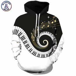 monsieur à capuche Promotion Mr.1991INC 2018 nouveau Rotary piano impression 3d Sweat-shirts Hommes / femmes 'sweat à capuche Casual Hooded Pulls Hommes Hoodies M304