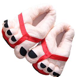2019 zapatillas de casa de felpa NUEVO 2016 Zapatos de casa Lindo Feliz Estilo de pies grandes Calzado de dedo del pie gigante Zapatillas de felpa cálidas de invierno Zapatos de interior unisex suaves zapatillas de casa de felpa baratos
