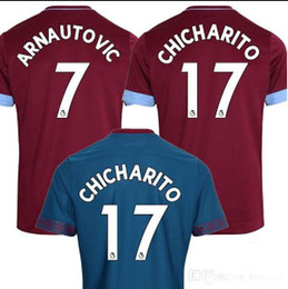 Wholesale west home - aaaa+ Thai quality 2018 2019 West Ham United home Away soccer Jersey 18 19 CHICHARITO Football jerseys CARROLL SAKHO AYEW soccer shirt