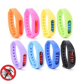 Wholesale mosquito repellent band bracelets - Mosquito Killer 2-3Month Use Repellent Bracelet Anti Bug Pest Repel Wrist Band Bracelet Insect Repellent Bangles Mozzie Tools