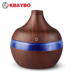 KBAYBO USB 300 ml Aroma Humidificateur Aromatherapy Grain De Bois 7 Couleur LED Lumières Électrique Aromathérapie Huile Essentielle Aroma Diffuseur ? partir de fabricateur