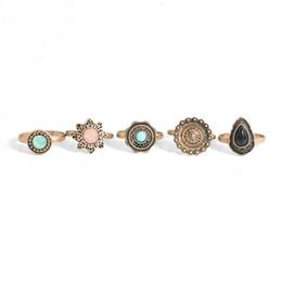 2019 новый дизайн кольца пальца с золотом Новые Конструкции Пять Древних Золотых Серебряных Колец, Модные Кольца Для Женщин