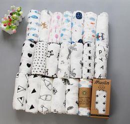 Babytücher decken online-62 Arten Baby Musselin Swaddles 100% Baumwolle Decken Kinderzimmer Bettwäsche Neugeborenen Swadding Badetücher 122x122cm Kleinkind Kinderzimmer Bettwäsche Decken