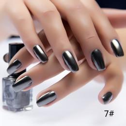 Wholesale Green Varnish - Wholesale-New 17 Colors Metalic Nail Polish Stainless Steel Mirror Silver Nail Polish Nails Art Tips Varnish For DIY Manicure Art Tools