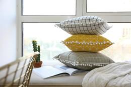 almohada de ganchillo hecha a mano Rebajas Fundas de cojín del estilo de Nodic ins Hot Linen Linen Fundas de cojín de lino para la decoración del hogar Envío gratuito
