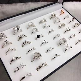 Wholesale 40 Styles Perle Anneau Réglages DIY Anneau Réglage De Mode Bijoux Perle Anneau Anneaux De Mariage Anneaux En Argent Pour Femme DIY Cadeau