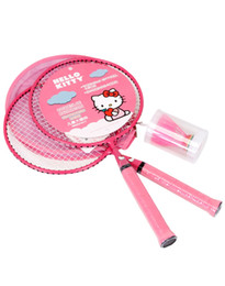 sport tips Promo Codes - HELLO KITTY Badminton Rackets Sports cheap Kids Cartoon racket Set Training children 44cm fit 3-12 years old Badminton Rackets