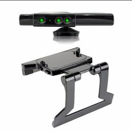 Sensor xbox on-line-1 pc 2016 venda quente grampo de tv braçadeira de montagem titular suporte para microsoft xbox 360 kinect sensor mais novo mundial hot drop