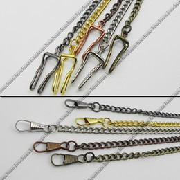 38cm Chaîne de montre de poche classique Bronze Cuivre Noir Argent Or Tone plaqué Pocket Warch Chain Accessoires ? partir de fabricateur