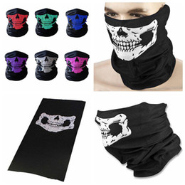 Wholesale Car Bicycles - CAR-partment Winter 3D Skull Sport Mask Neck Warm Full Face Mask Windproof Dustproof Bicycle Cycling Mask Ski Snowboard Masks DDA275