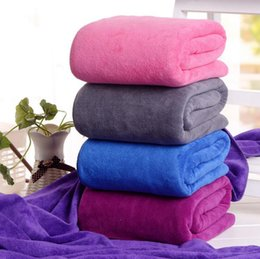 Wholesale bathroom towel colors - Microfiber Bath Towels 140*70cm Adults Thick Sport Beach Towel Bathroom Outdoor Travel Microfibra Sport Towel 9 Colors OOA3946