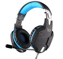 Cf luz online-Auriculares para juegos profesionales KOTION EACH G1100 HD Juego Auriculares Luz LED con micrófono USB 7.1 Canal para LOL DOTA CS CF Esports
