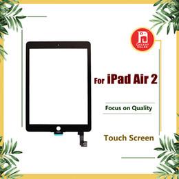 2019 schermi digitali ipad Schermo di ricambio per ipad 6 per iPad Air 2 Air2 Touch Screen Digitizer Touch Glass Pannello di vetro esterno di ricambio per IPAD 6 Parti schermi digitali ipad economici