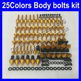 Kit completo de tornillos de carenado Para KAWASAKI NINJA ZX6R 07 08 ZX-6R ZX 6 R 07-08 ZX 6R ZX6R 2007 2008 07 Tuercas del cuerpo tornillos tuercas juego de tornillos 25Colores desde fabricantes