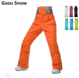 2019 штаны для поддержки New 2017 high quality Gsou Snow ski pants waterproof famale veneer double plate thickening warm ski pants waist support model дешево штаны для поддержки