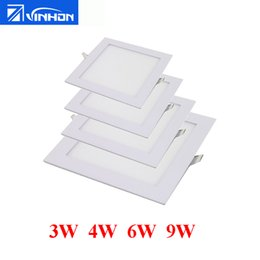 "Wholesale Cheap 9w Led Lights - 3W 4W 6W 9W 12W LED downlight 2.5"" 3"" 3.5"" 4"" 5""untra thin LED panel light 2PCS cheap downlight square"