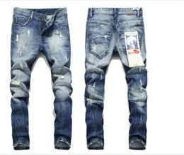 Wholesale Cool Hip Hop Clothes - Korean pop culture is skinny Korean hip-hop fashion city clothes pants cool man jumpsuit mens jeans kanye west beckham