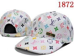 Wholesale Hat Designs For Women - 2018 New Style Luxury design brand bone Curved visor hat Casquette baseball Cap women gorras dad hats for men Snapback Caps High quality