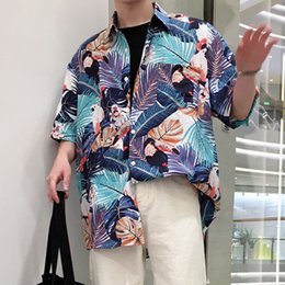 Wholesale print control - 2018 Sociology People Necessary FLOWER Shirt The new listing Wind In Summer Easy Men Trend Control gloria jeans Fashion hip hop