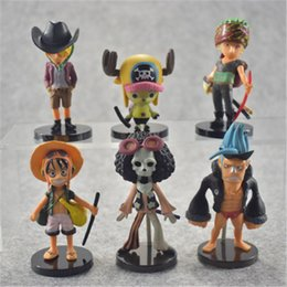 Wholesale One Piece Action Figure Pop - LilyToyFirm 6pcs set Japanese Anime Action Figure One Piece POP Luffy Zoro Tony Chopper Q Ver PVC 6~13cm Model Collection Doll