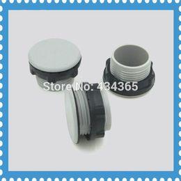 Wholesale Hole Plastic Buttons - 10 Pcs Diameter 22mm mounting hole Gray switch plug plastic plug panel dust push button switch indicator hole