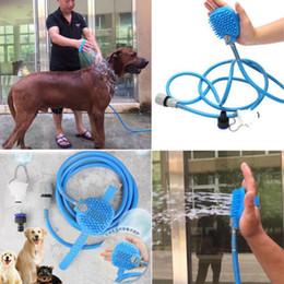 2019 combinación de ducha Ducha de baño original para mascotas Rociador de baño Combinación de rociador de ducha y depurador Limpieza Herramientas de lavado para mascotas Perros Suministro VB combinación de ducha baratos