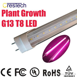 Wholesale T8 Led Light Tube Red - Free shipping 25pcs LED Plant Grow Light T8 LED Tube Lamp for Greenhouse and Indoor Plant Flowering Growing Full Spectrum Pink Purple Color