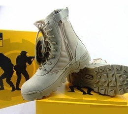 Wholesale Boots Delta - 2018 NEW Delta Tactical Boots Military Desert SWAT American Combat Boots Outdoor Shoes Breathable Wearable Boots Hiking EUR size 36-46