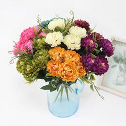 Fiori di seta artificiali di fiori online-JAROWN Simulazione 7 testa Daisy Flower Silk Artificial Chrysanthemum Flowers Bouquet fai da te Home Wedding Flores Office Party Decor