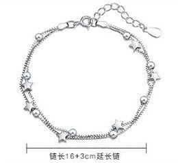 freundin geburtstag armband silber Rabatt 925er Silber Doppel Armband Studenten Sterne Armband Geben Sie Ihrer Freundin Geburtstagsgeschenk Geschenk