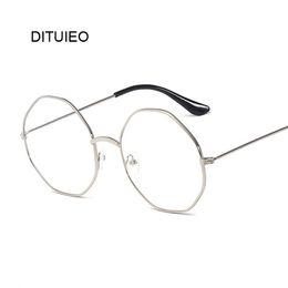 1d8485d29e9 New Designer Woman Glasses Optical Frames Metal Round Glasses Frame Clear  Lens Eyeware Black Silver Gold Eye Glass