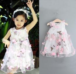 2019 rosenspitze kleid baby Baby Kleidung Prinzessin Mädchen Blumenkleid 3D Rose Blume Baby Mädchen Tutu Kleid mit Blütenblatt Spitze Kleid Bubble Rock Baby Kleidung rabatt rosenspitze kleid baby