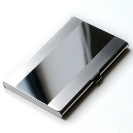 Wholesale Gift Card Holder Metal - 2018 New Arrival Waterproof Stainless Steel Case Pocket Box Business ID Credit Card Holder Cover Birthaday Gifts BV3U