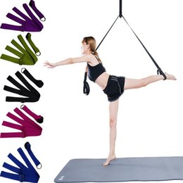 Wholesale Wholesale Door Pulls - Adjustable Yoga Resistance Bands Multi Function Cotton Door Extensional Belt Body Building Sports Pull Strap Factory Direct 27 44lg B