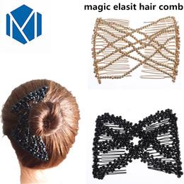 2019 accessori di pettine di capelli vintage MISM Donna Elastico Magic DIY Toll Vintage Fascia Fashion Hair Maker Bun Hair Combs Forcine in metallo per le donne Accessori accessori di pettine di capelli vintage economici