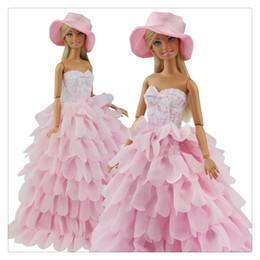 La Ropa De Fiesta De La Princesa Se Viste Con Un Conjunto De Traje De Muñeca Con Sombrero Adecuado Para Que Una Chica Haga Un Regalo Venta Caliente