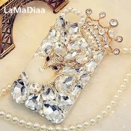 Étuis téléphones iphone 5c en Ligne-LaMaDiaa Bling Strass Cristal Diamant Renard et Couronne Doux Téléphone Retour Housse Pour iPhone X 7 8 Plus 6 6s Plus 5 5S SE 5C