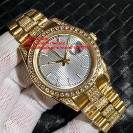 Wholesale Yellow Sapphire Bracelet - 5 Color Luxury High Quality Watch 40mm Day Date 18k Yellow Gold Diamond Bracelet Asia 2813 Movement Mechanical Automatic Mens Watch Watches