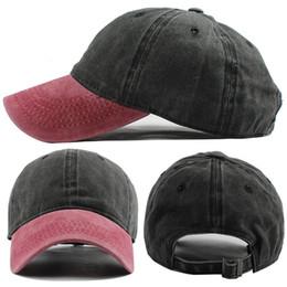 afaffff46c36a A granel Lots 25 colores Denim Gorras de béisbol Sombrero de cola de  caballo Casquette Snapback Sombreros de diseño Sombrero de papá Sombreros  ajustados ...