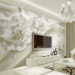 paesaggistica naturale Sconti Personalizzato qualsiasi formato 3D murales carta da parati fiore di seta stile europeo 3D TV sfondo grande muro dipinto soggiorno carta da parati