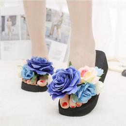 Geléia sandália sapatos flor on-line-Eco-Friendly Chinelos Verão Mulheres Moda praia dos chinelos sandálias artesanais flores no senhoras Wedge Jelly Shoes