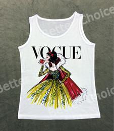 Wholesale Princess Vogue - Track Ship+Vest Tanks Tank Tops Camis Vintage Retro Vogue Snow Princess Enjoy A Big Red Apple 1031