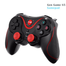 Wholesale Smartphone S5 - Newest Gen Game S5 Wireless Bluetooth Gamepad Joystick for Android Smartphone Tablet PC Remote Controller Black With Holder