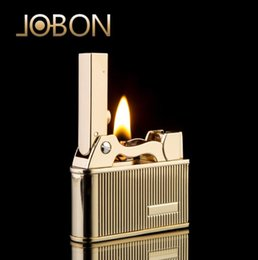 Wholesale Wholesale Kerosene Lighters - Jobon old style retro kerosene lighter creative personality metal wheel lighter