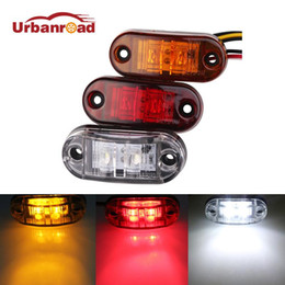 Wholesale Bulb Led 24v - Urbanroad 2pc 12V 24V LED Amber Red White Side Led Marker Trailer Lights Led marker lights for trucks Marker light
