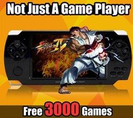 Wholesale Pmp Mp5 - PMP 4GB 8GB handheld Game Console 4.3 inch screen mp4 player MP5 game player real 8GB support for psp game,camera,video,e-book NEW