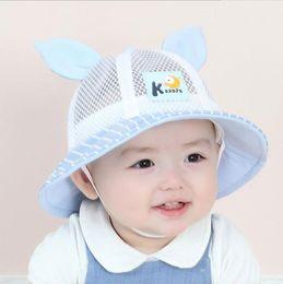 48bdcf1237c Big Ear Mesh Fisherman Cap Panama Sun Protection Caps M5957 Unisex Dome Solid  Bucket Hat Boys Girls Kids Summer Child Cap Hat